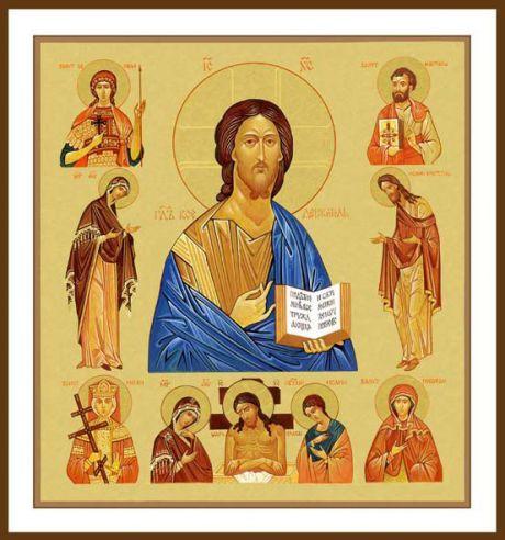 Художник Пацюра Александр Антонович Название картины Господь вседержитель со святыми
