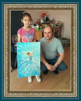 Ученик художника Фото с мастер-класса Балерина