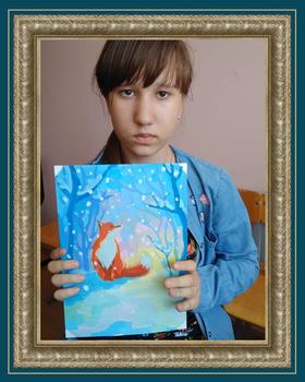 Ученик художника Крутина Полина Зима